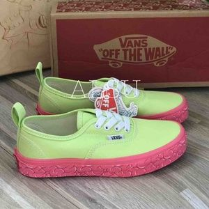 NWT VANS Authentic Elastic Brain Wall Green Kid's